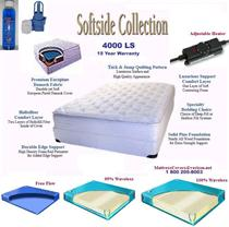 Twin Size Softside Waterbed with Soft side Water bed mattress and heater