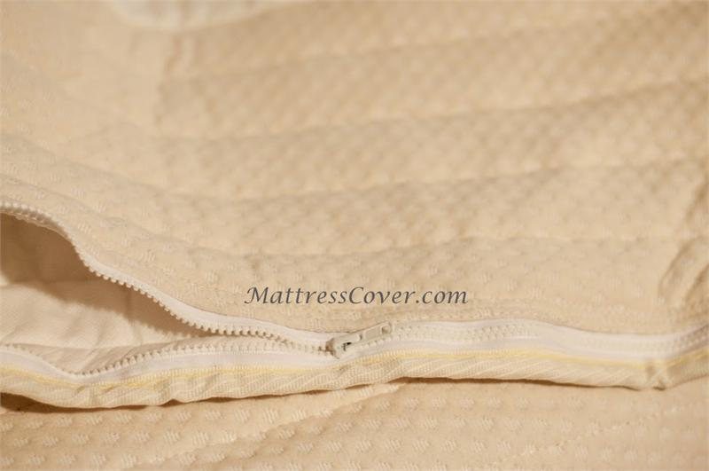 Zipper Quilted Cotton Cover Hard Side Waterbed Mattress