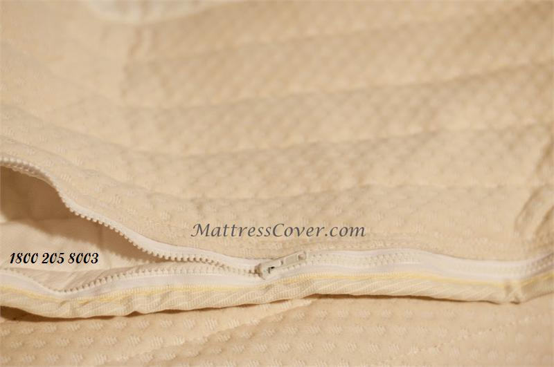 zippered mattress topper cover Cotton Zipper Cover ror Foam & Latex Mattresses 1800 205.8003 zippered mattress topper cover