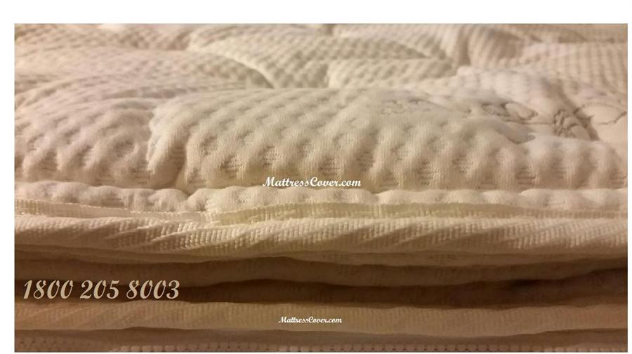 organic cotton pillow top for latex mattress