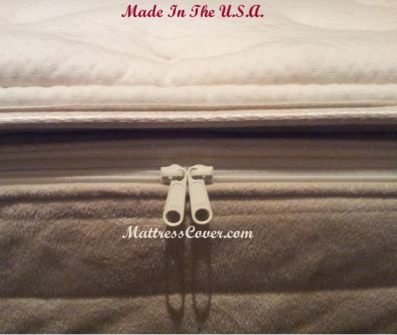 Cotton Zippered Mattress Cover 4000 Cotton Pillow Top Cover for Softside Waterbed mattresses