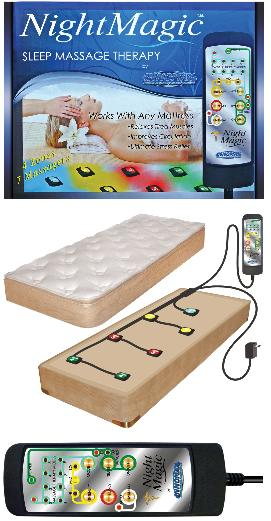 Night Magic Mattress Massage for king, queen, full or twin size mattresses