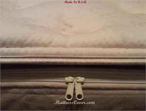 Pillow top cover for softside waterbed mattress
