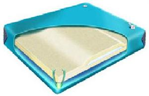 Hardside waterbed mattress 90% with Contour Lumbar Support available in Cal. king, queen & super single