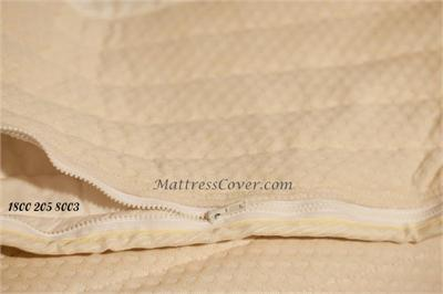This Cotton Zipper Mattress Cover is made for foam and latex mattresses in king, queen, full and twin size