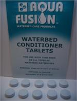 If you have an waterbed with either tubes or cylinders then conditioner tablets is the most common way to maintain your waterbed mattress. Aqua fusion waterbed conditioner is the best way to maintain your softside tube mattress.