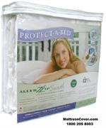 Single Size Protect A Bed AllerZip Mattress zipper covers