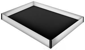 Queen Size Wood Frame Waterbed Liner