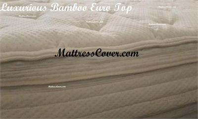 Bamboo Euro Top Mattress Cover for Air Bed Mattress