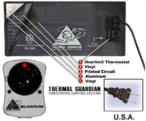 Quantum 300 watt water bed heater for california hardside wood frame water beds