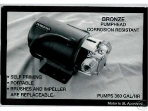 Utility Water Pump to drain Waterbeds, pools, basements & large puddles
